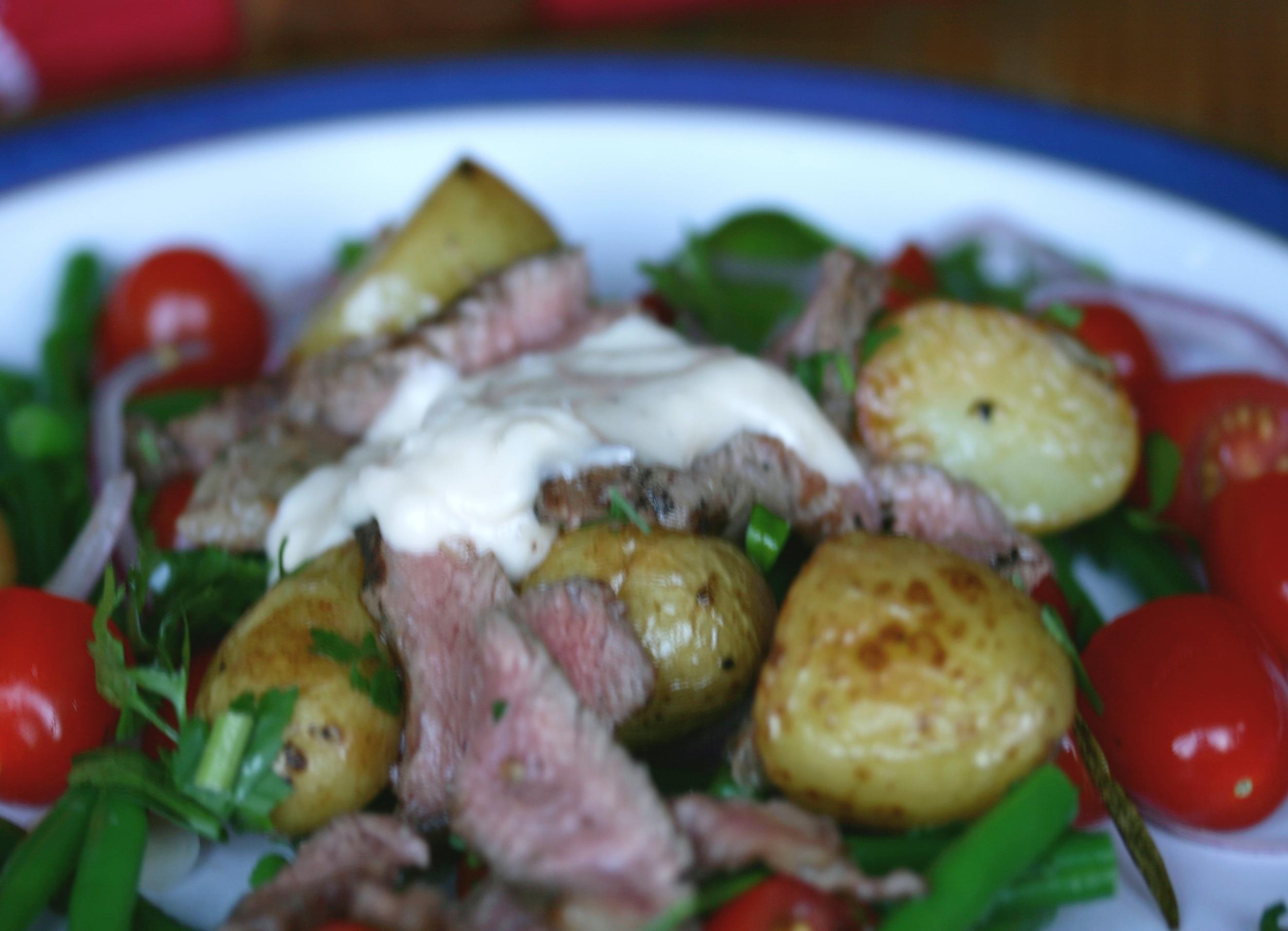 Steak salad with horseradish dressing | ten more bites