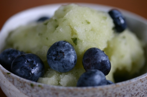 Lime and Thai basil sorbet