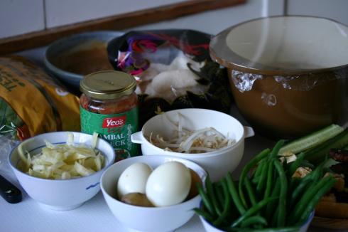 Gado gado ingredients