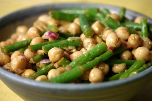 Chickpea green bean salad