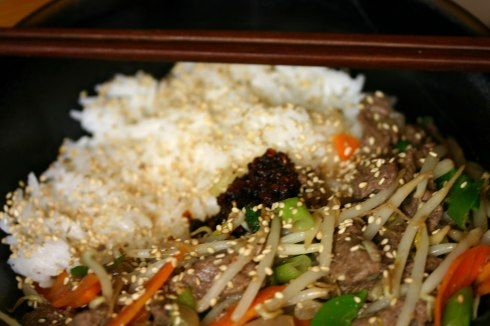 Lemongrass beef stirfry