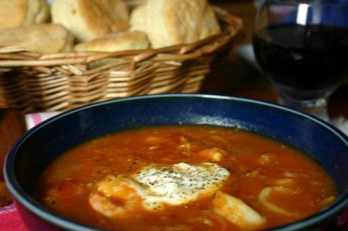 Provençal-style seafood soup