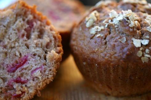 Cranberry oatmeal muffins
