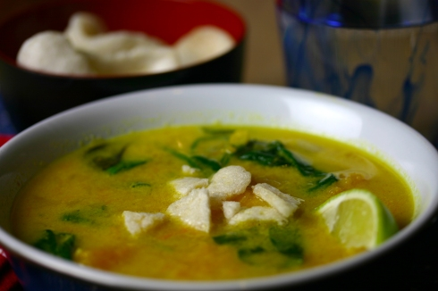 Indonesian squash and spinach soup2