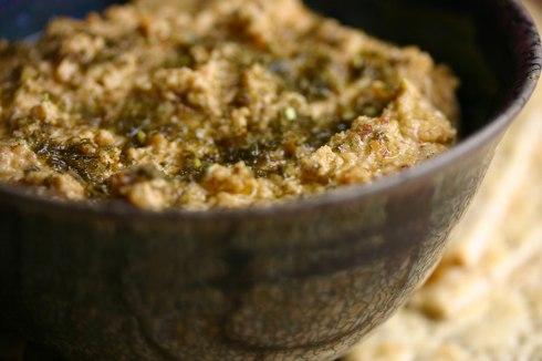 Almond-feta dip