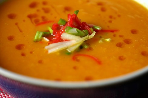 Carrot and miso soup
