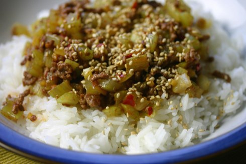 Szechuan celery with beef