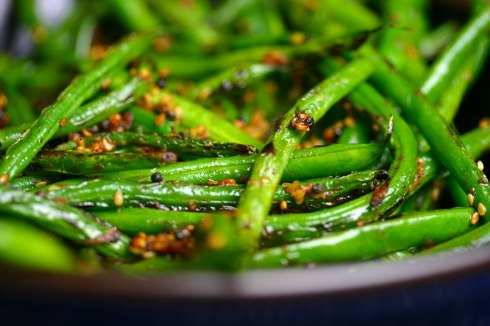 Green beans with mustard seeds and ginger