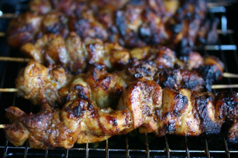 Balinese chicken skewers