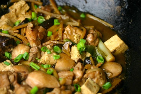 Chicken and tofu