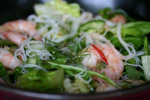 Prawn vermicelli salad