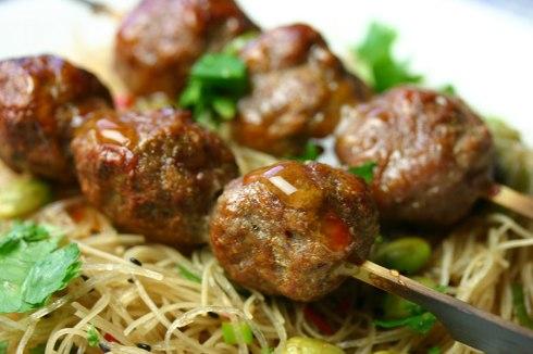 Vietnamese grilled pork balls