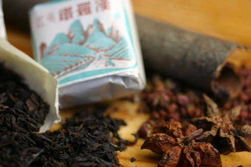 Tea egg seasoning - black tea, cinnamon stick, star anise, szechuan pepper