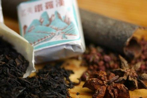 Tea egg seasoning - black tea, cinnamon stick, star anise, szechuan pepper