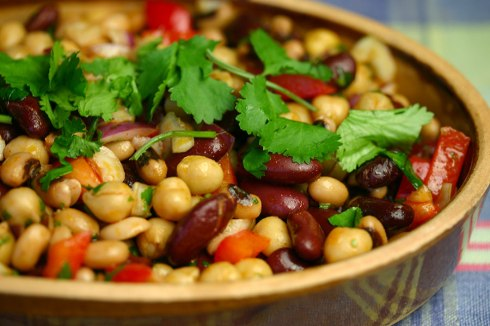 Bean salad with smoked paprika dressing