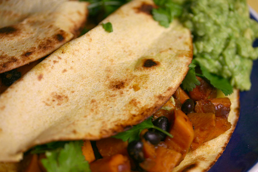 "Sweet potato and black bean tacos are currently the ""go-to"" taco ..."