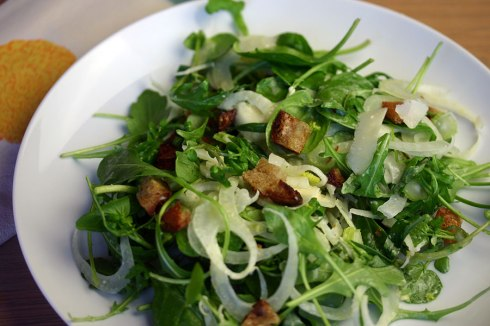 Fennel and mixed leaf salad
