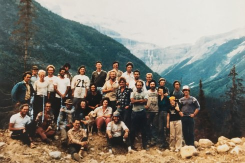 Treeplanting crew in northern BC, 1987