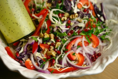 winter slaw with poppy seed dressing