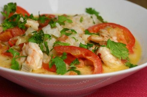 moqueca de camarão (Brazilian prawn stew)