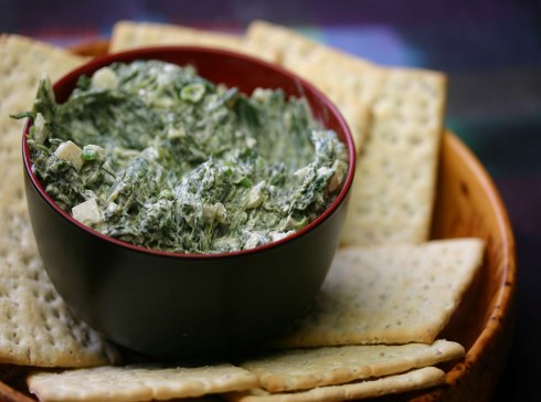 spinach and water chestnut dip