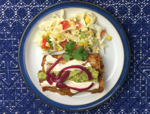 cabbage and corn slaw