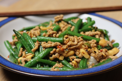 Chinese pork and beans